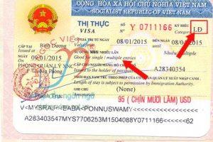 goc visa LĐ, ký hiệu thị thực LĐ