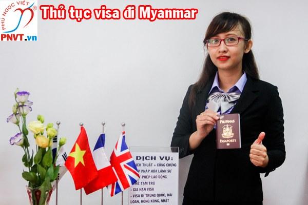 Thủ tục xin visa đi Myanmar