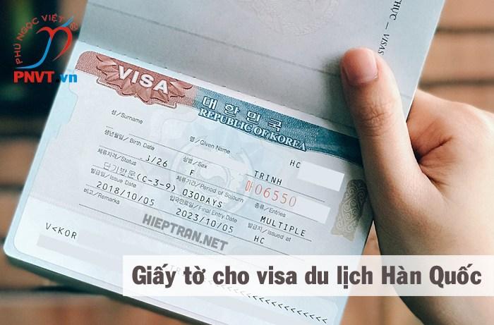 Gợi ý giấy tờ xin visa du lịch Hàn Quốc